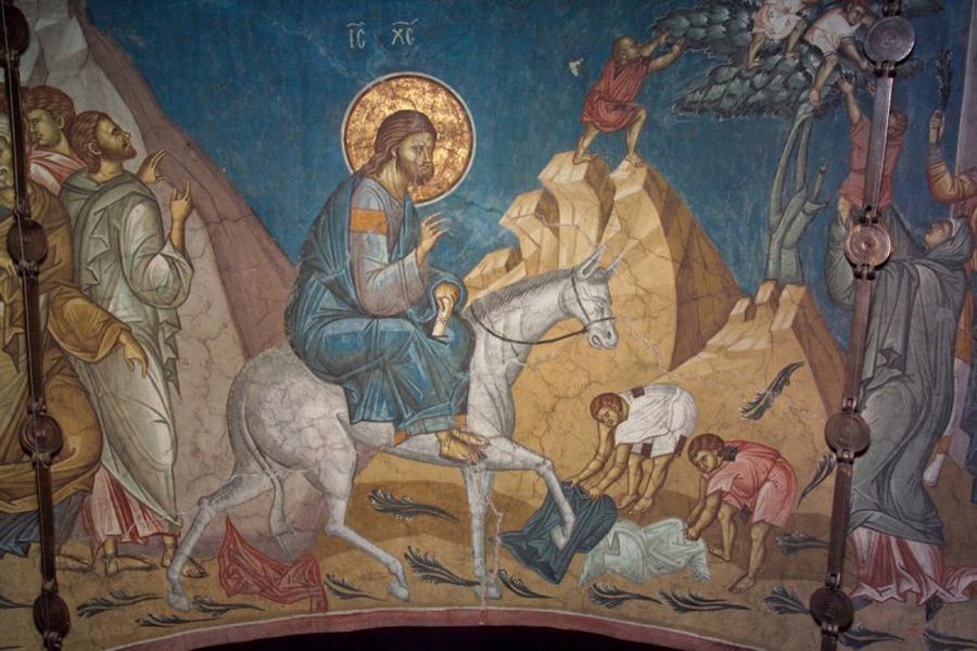 Патриарх Кирилл освятил вербы вканун праздника Входа Господня вИерусалим
