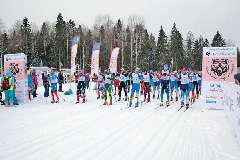Почти 400 лыжников со всей России пробежали марафон под Вологдой