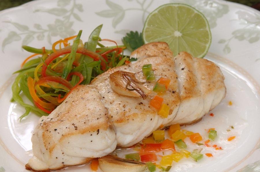 Рыба филе отварная